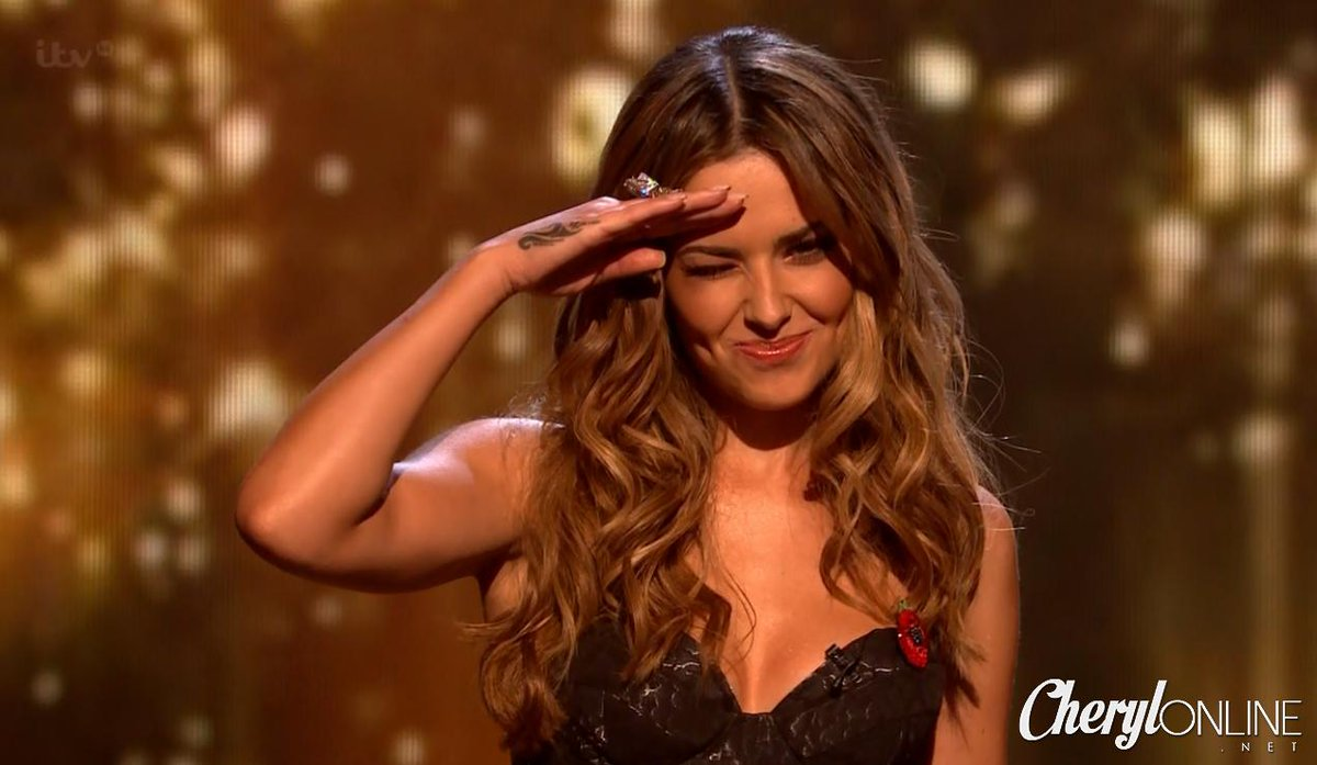 [HD] Cheryl gives her salute tonight ahead of her performance! http://t.co/HBURB5QiQj