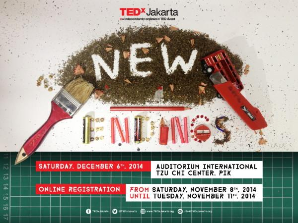 TEDxJakarta: New Endings - December 6, 2014 - Auditorium International Tzu Chi Center, PIK http://t.co/lantdKtgfN