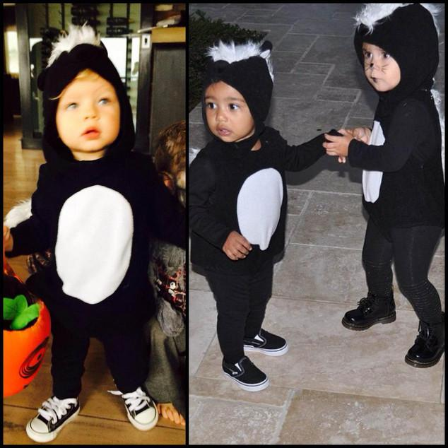 Was EVERY celebrity baby a skunk this year for Halloween?! Too cute: