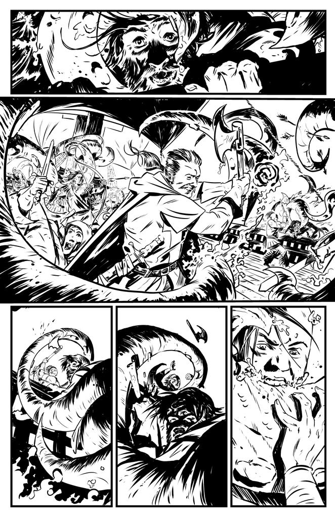 One of my favourite pages to draw from @gregpak @PaulTobin's Turok #9 script. Out in comic stores this week! http://t.co/53jmToXhH8