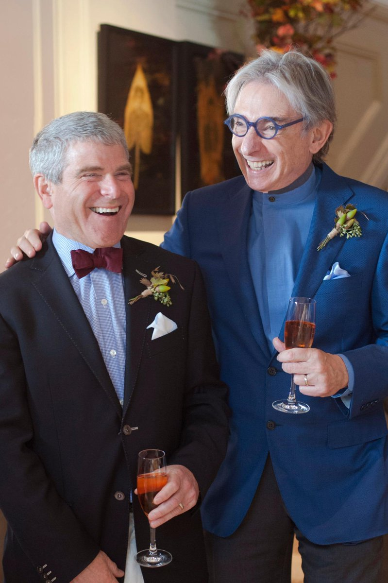 Happy news! Yesterday our Music Director @mtilsonthomas married his partner of 38 years Joshua Robison. Mazel tov. http://t.co/hJAfMsxeVG
