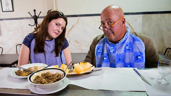 TONIGHT on BizarreFoods @andrewzimmern travels to Lisbon, Portugal! Get a sample taste now -