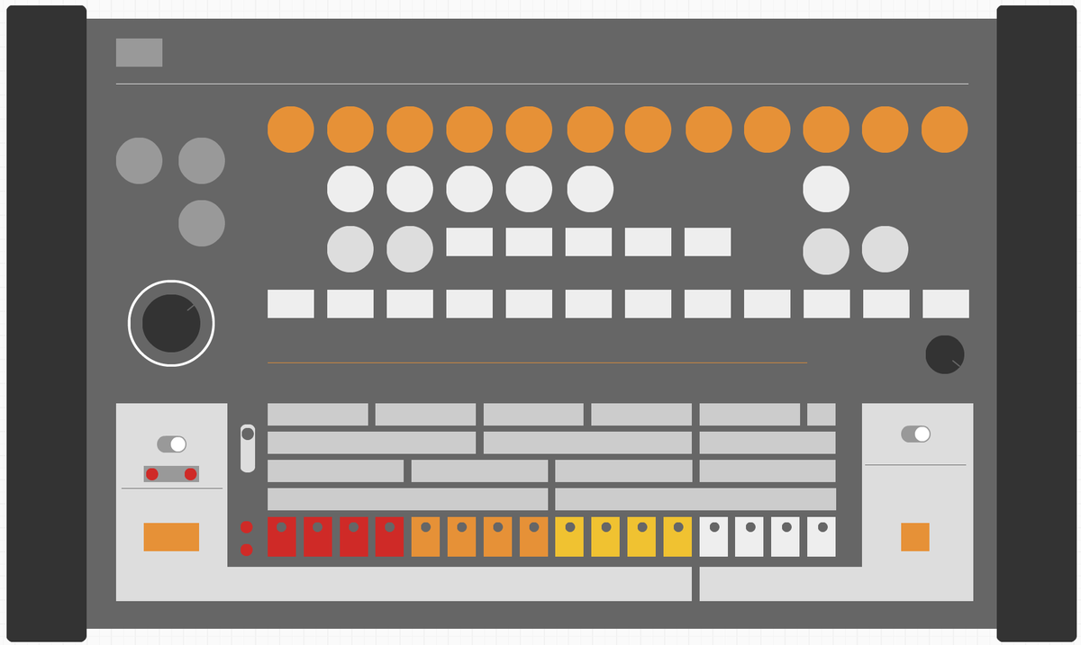 Used Balsamiq to make a Roland TR808. http://t.co/K0zPjH1SAS