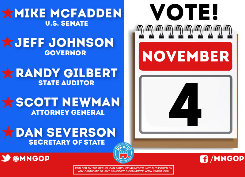 Retweet if you are voting for #TeamGOP tomorrow! #mngop #mngov #mnsen http://t.co/GeAChJBeRP