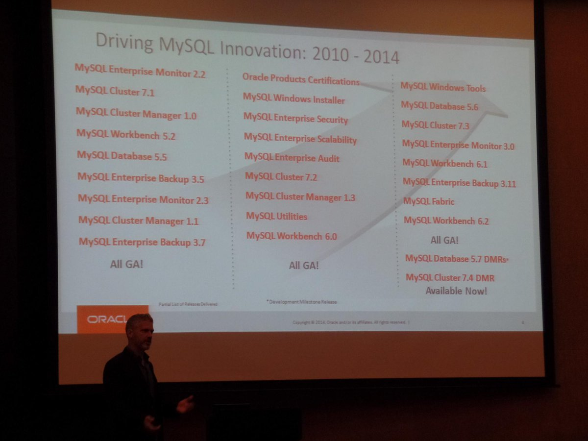 Tomas Ulin: Oracle will not kill MySQL. Oracle is committed to MySQL and keeping it open source. #PerconaLive London http://t.co/rQKW6XHVOY