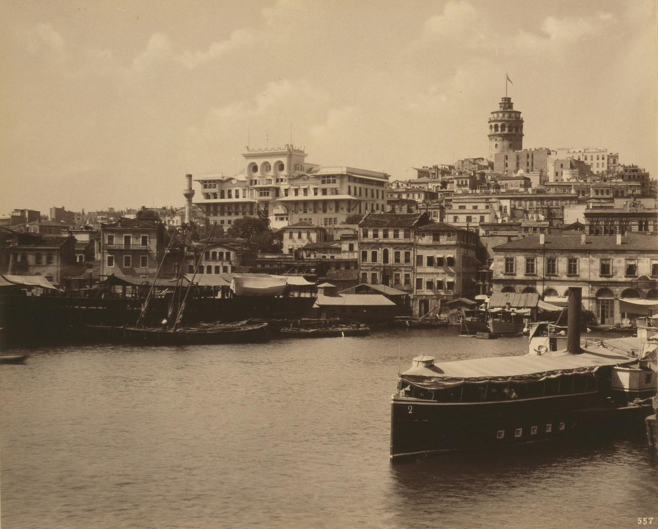 View of Galata and the (Imperial) Ottoman Bank, #istanbul #Turkey  (c. 1880-1893. Abdullah Brothers) http://t.co/Wxnz5s5CCB