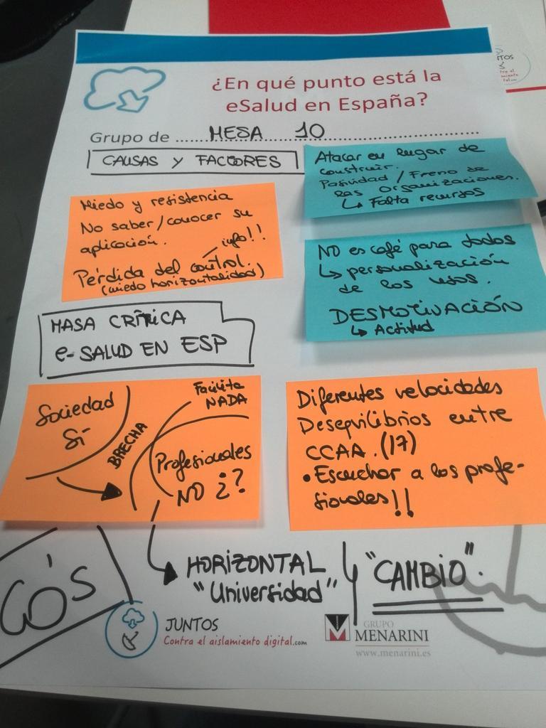 ¿En qué punto está la eSalud en España? Veis como sí hemos venido a trabajar... #sherpas20 http://t.co/5BxJEKLvg4