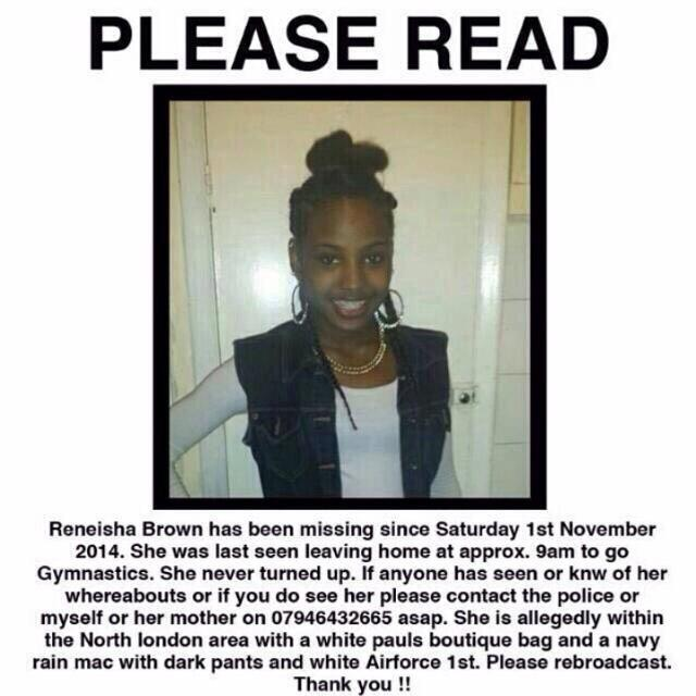 #ReneishaBrown has been missing since Saturday. RT to help build public awareness and find this little girl http://t.co/RUXa4YpyVz