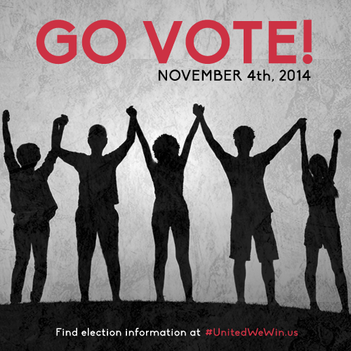 Today is the day we change America! #GoVote! Get to the polls and bring five of your people with you! #UnitedWeWin http://t.co/05qEoi6XVP
