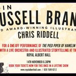 Love the sound of this unique charity event at the Albert Hall with Russell Brand & Chris Riddell. Do RT