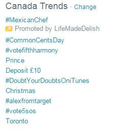 Trending #1! Congrats @Jen_Banks @PGeverydayCA  @inRdream #CommonCentsDay @My3LilKittens http://t.co/73NIqXXTdD