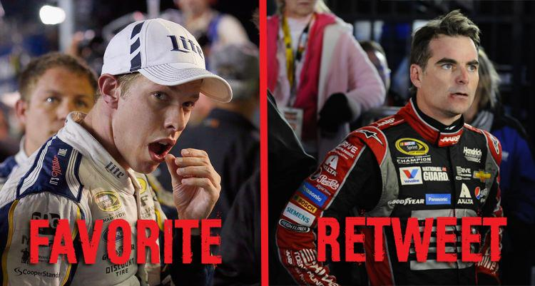 """In honor of #ElectionDay, we're putting it to a vote. """"FAVORITE"""" for Team Brad or """"RT"""" for Team Jeff #NASCAR http://t.co/yKQDSlQYvH"""