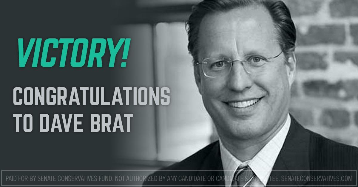 Congratulations to @DaveBratVA7th for winning the #VA07 House race. http://t.co/N8Qm4Jp6Nf http://t.co/pOtNUyhqh1