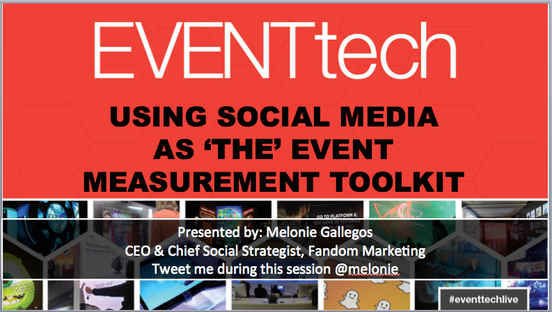 A sneak preview of my #EventTechLive presentation about social media analytics. See me Wed, 11:30am in Theater 2. http://t.co/NxHCIrPOyR