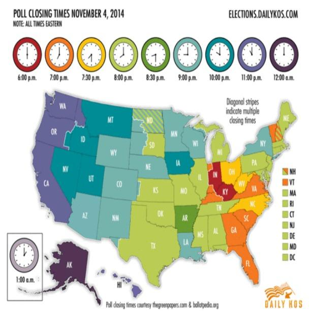 Do you need to know what time the polls close? This image has you covered! (via @dailykos) #GoVote2014 #Election2014 http://t.co/DxwZY61LS8