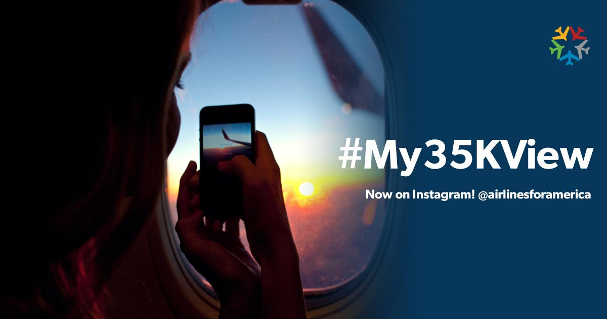 Are you a fan of taking pictures from your window seat? We want to see them! My35KView: