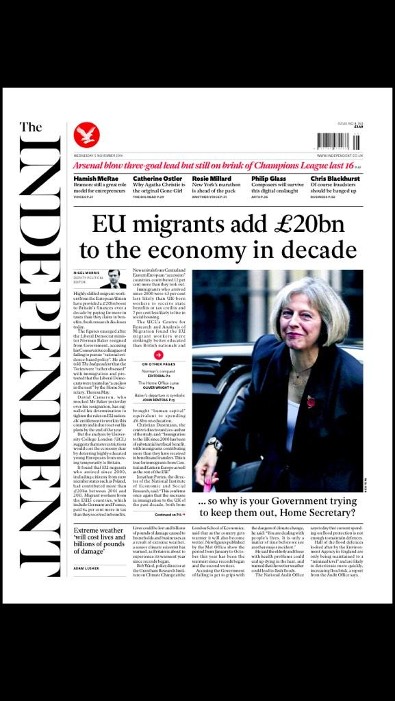 All these bleeding immigrants coming over here and stimulating our economy by £20b http://t.co/YYAmOU3lj7