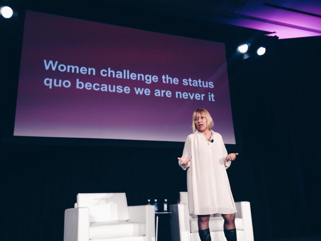 """Women challenge the status quo because we are never it"" - @cindygallop at #3percentconf http://t.co/kBMkMBNNLF"