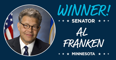 BoldProgressives.org (@BoldProgressive): Victory! @BoldProgressive @AlFranken wins re-election. PCCC members made over 435,000 calls and donated over $80,000. http://t.co/zkFEYXRteL