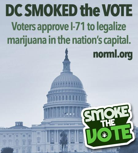 BREAKING: MARIJUANA LEGALIZED IN NATION'S CAPITAL. #SmokedTheVote http://t.co/UxNEfNXR7U