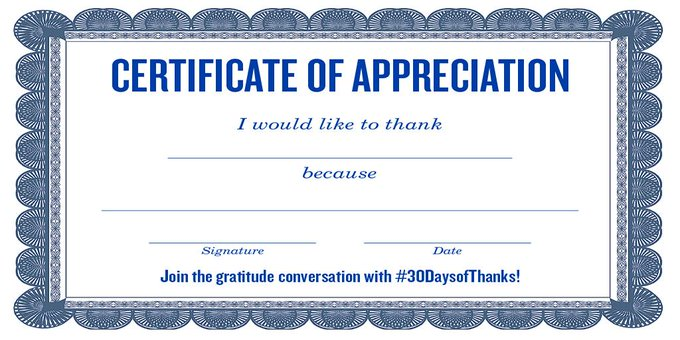 kathy ireland @kathyireland: RT @amfam: Let's spread gratitude today! Print and post a pic sharing your thanks ---> http://t.co/cvNbJoHZxi  #30DaysofThanks http://t.co/…