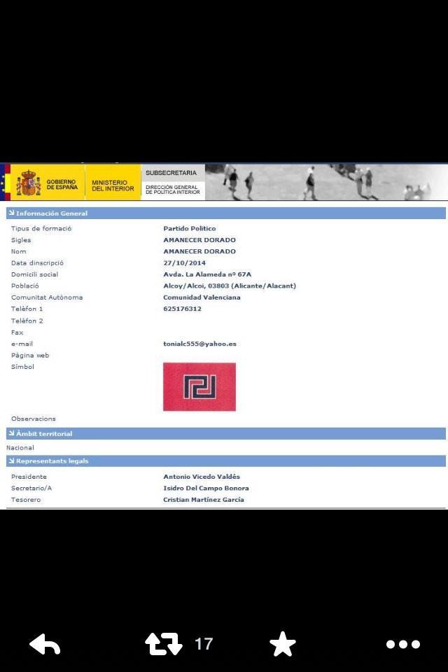 Doncs res, que votar diumenge és il.legal però els nazis d'Alba Daurada són constitucionals.Tot molt normal http://t.co/bCxpeBxoLD