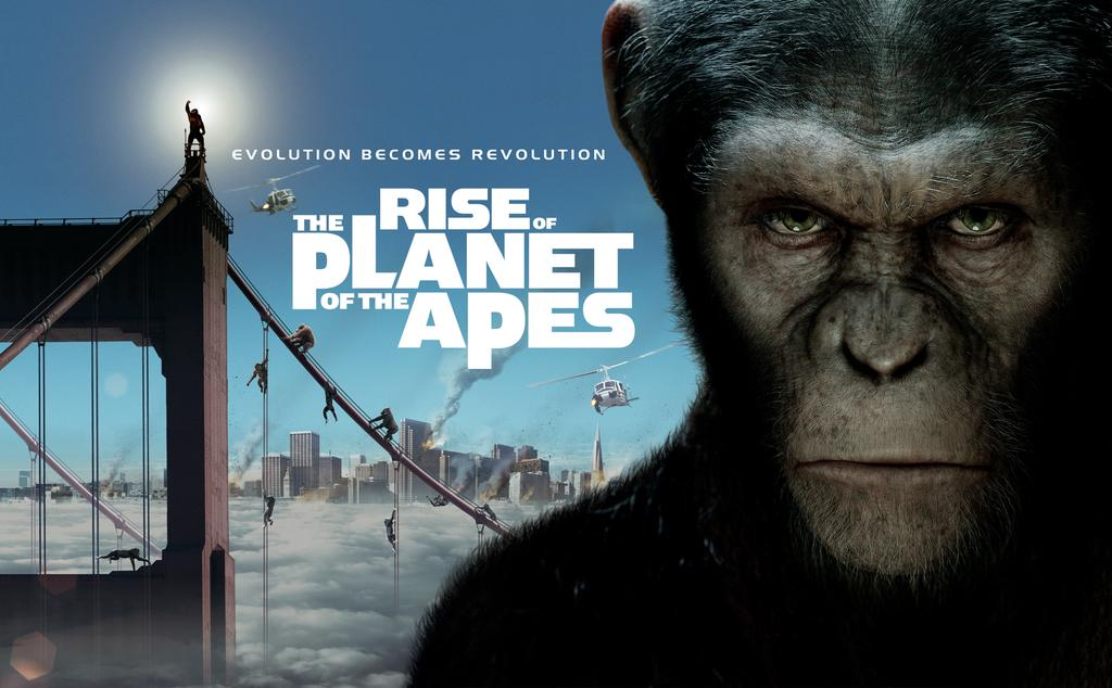 In an hour at 9pm, evolution becomes revolution in simian sci-fi adventure Rise Of The Planet Of The Apes. http://t.co/e00DxqbZyP