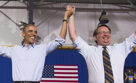 Michigan Congressman Gary Peters, Who Happily Campaigned With President Obama, Has Been Elected To The Senate http://t.co/dTVYKabFBw