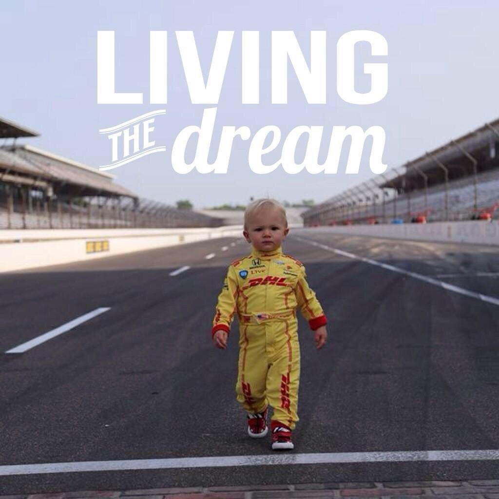 """Living the dream"" photo was taken by @robngordon the day after the Indy 500. How great is this?! http://t.co/VYRYdCWXvG"
