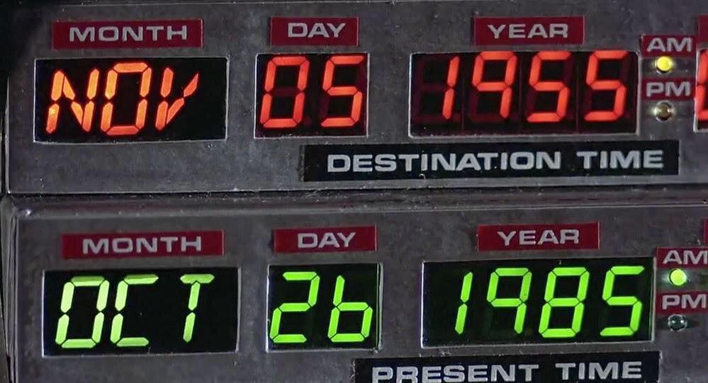 Tal día como hoy, 5 de noviembre de 1955, Doc Brown envía a Marty McFly al pasado por primera vez http://t.co/ptpSk6uoGc