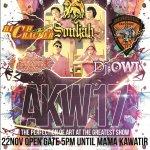 "AKW17 ""The Perfection of Art at The Greatest Show"" @OSISPKSmaneka w/ @souljahmusik at Smanekas backyard. http://t.co/FDZceg42Ag"