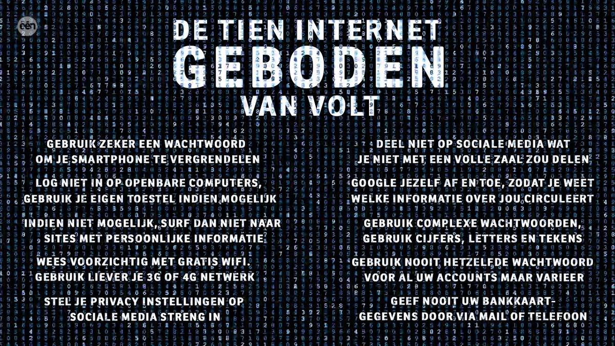 Laat je nooit meer online in de maling nemen... De 10 internet geboden van @VOLTtv ! http://t.co/X1VM96HDms