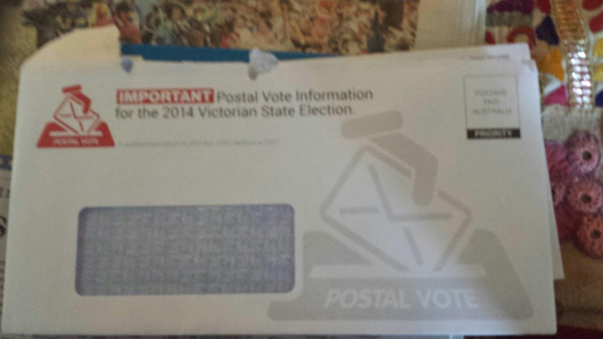 If I get an envelope like this I expect postal vote papers not Liberal propaganda. Dishonest Napthine #auspol http://t.co/2F2nTzQx15