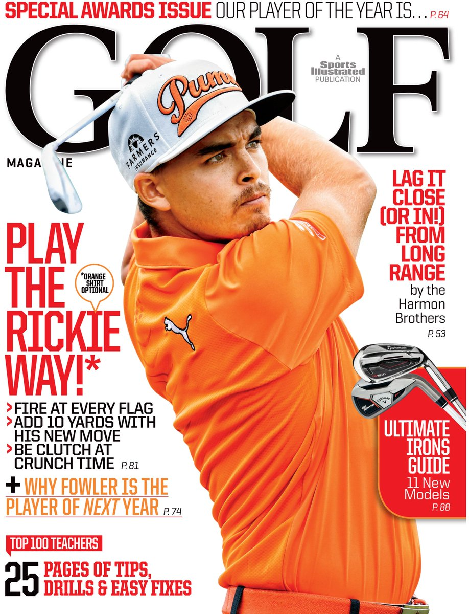 We've got a new coverboy! @RickieFowlerPGA is dubbed the Player of NEXT Year in our December issue. http://t.co/91DeT115wb