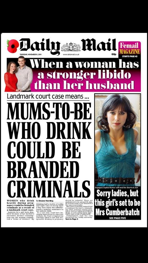 Every single news story on the Mail's front page: all women's fault. RT @hendopolis http://t.co/aCpiTliUoh