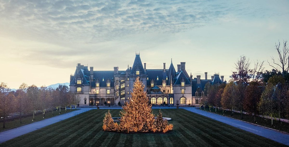 Biggest tree of #ChristmasatBiltmore? 55-foot-tall Norway spruce on the Front Lawn #BiltmoreTreeRaising http://t.co/LaEhhW67pu