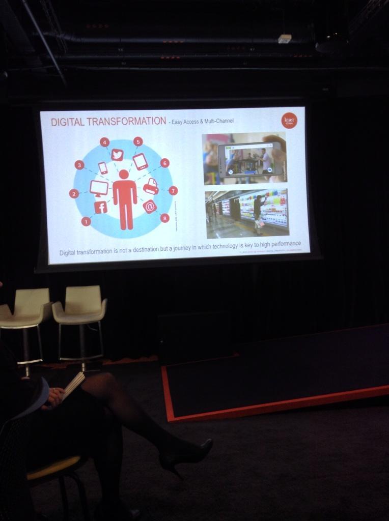 """digital transformation is not a destination but a journey"" @kjaerglobal #cxloyalty2014 @DUCCLondon @google http://t.co/EFqfBiawX4"