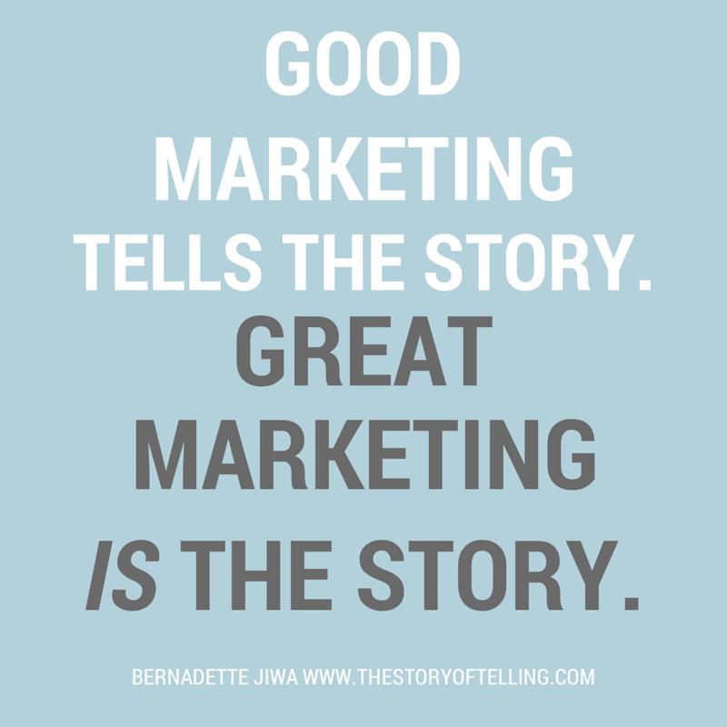 Good marketing tells a story. Great marketing..... http://t.co/kqPtAPi4Hq