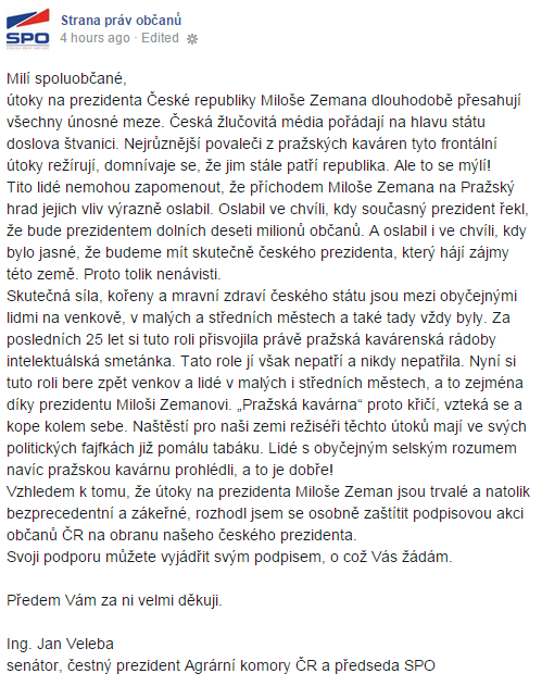 Tohle není @Znovu89 ani @pred100lety. To jsou Zemanovci před čtyřmi hodinami. http://t.co/uKL5p0tZVo