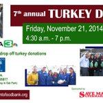 Mark your calendar: Our Turkey Drive is Friday, Nov 21 from 4:30am - 7pm! #Sacramento @kcranews @SaveMart @WellsFargo http://t.co/OfEHn15Bw1