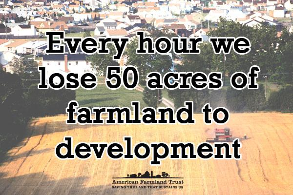 DKY: Every hour we lose 50 acres of farmland to development! #NoFarmsNoFood http://t.co/8P6xuX0Me2