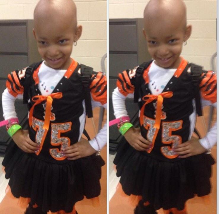 RT @Harmony__Joy: Look how beautiful Leah Still looks ready to cheer on her Daddy @Dev_Still71 &other @Bengals! #LeahStrong #proudalum http://t.co/lBvUQfMgId