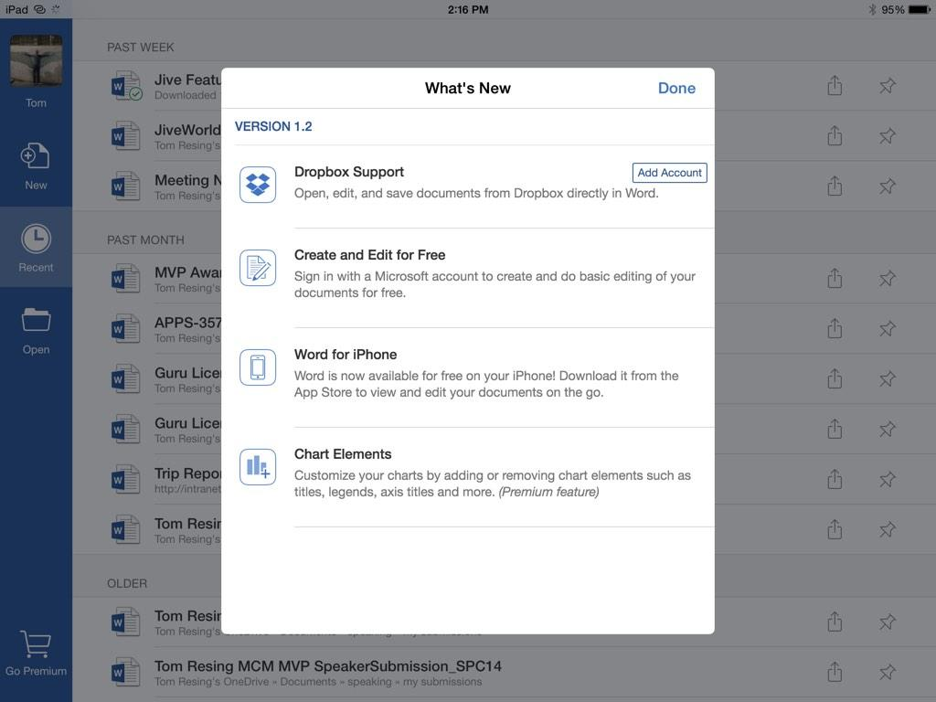 editing in Word for iPad is now free! No Office 365 account needed anymore. Sign in with a free Microsoft account http://t.co/VXfJk5GQ1t