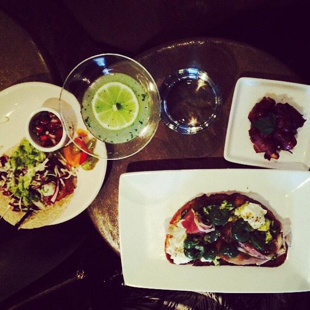 @TavernLa and @SuzanneGoin had best #happyhour 2 Thursdays in a row #gimlet #bacon wrapped dates and Acocado toast http://t.co/azJfb7P0pl