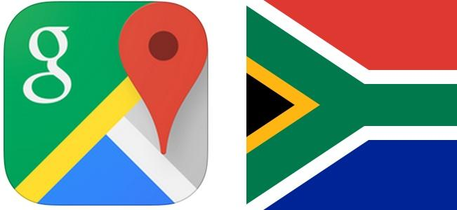 New Google Maps for iOS vs. South African flag. http://t.co/HfjD3ZkSZL
