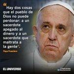Papa Francisco desaprueba el cobro por celebrar sacramentos como bautizos o bodas: http://t.co/DcmWFa6uul http://t.co/HCbjUUPtUk
