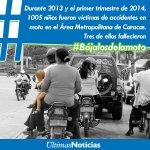 Los niños corren un alto riesgo de muerte al ser trasladados en moto ¡Protégelos! #Bájalosdelamoto Dale RT http://t.co/HEKzHmv579
