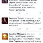 Lionel Chamoulaud (@France2tv ) - Pierre-Alain Dupuis (@RTSsport ) 1-1 #FRASUI #CoupeDavis http://t.co/pSu5SdUAF3