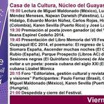 """Ya deberías estar llegando al VII Festival Internacional de Poesía de #Guayaquil """"Ileana Espinel Cedeño"""" 2014 http://t.co/DPoCWjWrrn"""