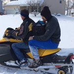 #Bills are using snowmobiles to get to their players. TE Lee Smith getting picked up > RT @MarkusChap: @AlbertBreer http://t.co/vNSFx68kXb